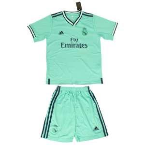 ست پیراهن و شورت ورزشی پسرانه طرح رئال مادرید کد 2019.20 رنگ سبز