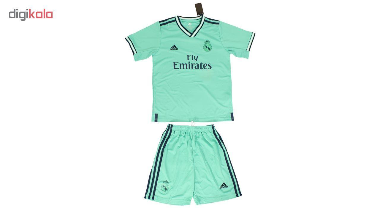 ست پیراهن و شورت ورزشی پسرانه طرح رئال مادرید کد 2019.20 رنگ سبز main 1 1
