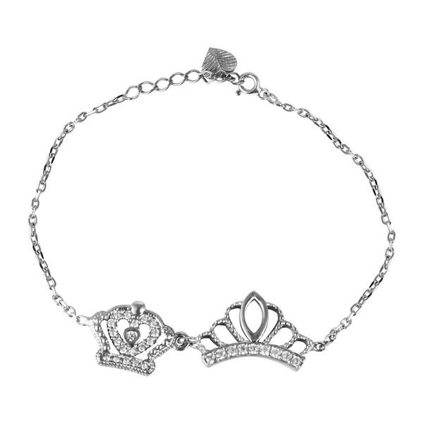 دستبند نقره زنانه مد و کلاس کد 1000469