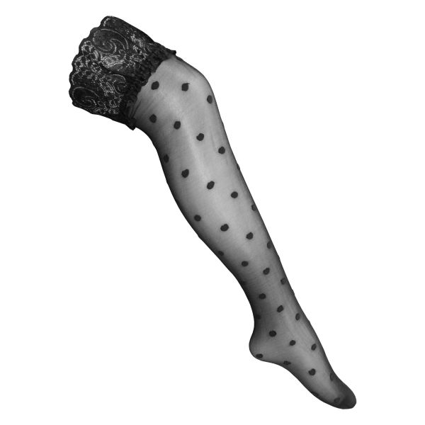 جوراب زنانه طرح خال خال کد 2106
