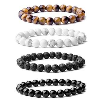 دستبند مردانه شادونه کد sh-4-94 مجموعه ۴ عددی