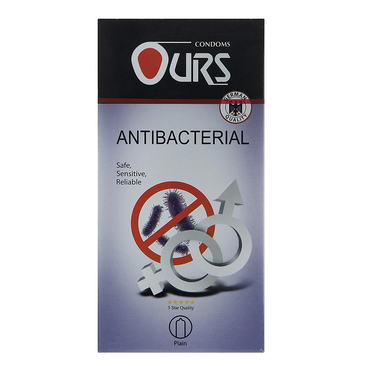 قیمت کاندوم اورز مدل Antibacterial And Antifungal بسته 12 عددی