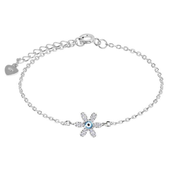 دستبند نقره زنانه اقلیمه کد DN437