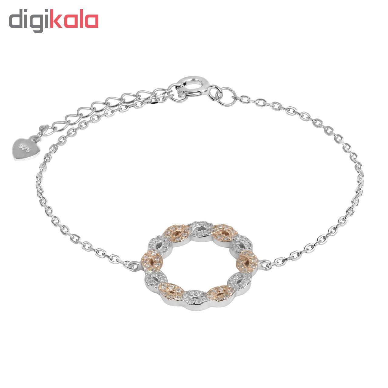 دستبند نقره زنانه اقلیمه کد DN439 -  - 3