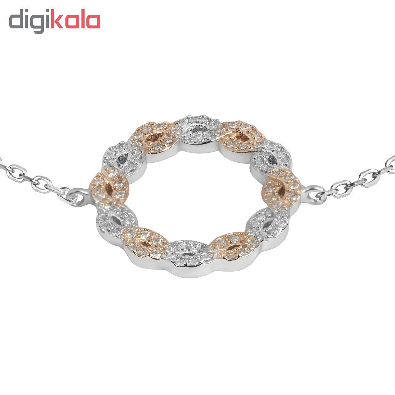 دستبند نقره زنانه اقلیمه کد DN439 -  - 4