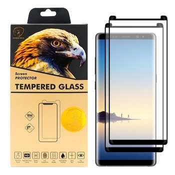 محافظ صفحه نمایش گلدن ایگل مدل DFC-X2 مناسب برای گوشی موبایل سامسونگ Galaxy Note 8 بسته دو عددی