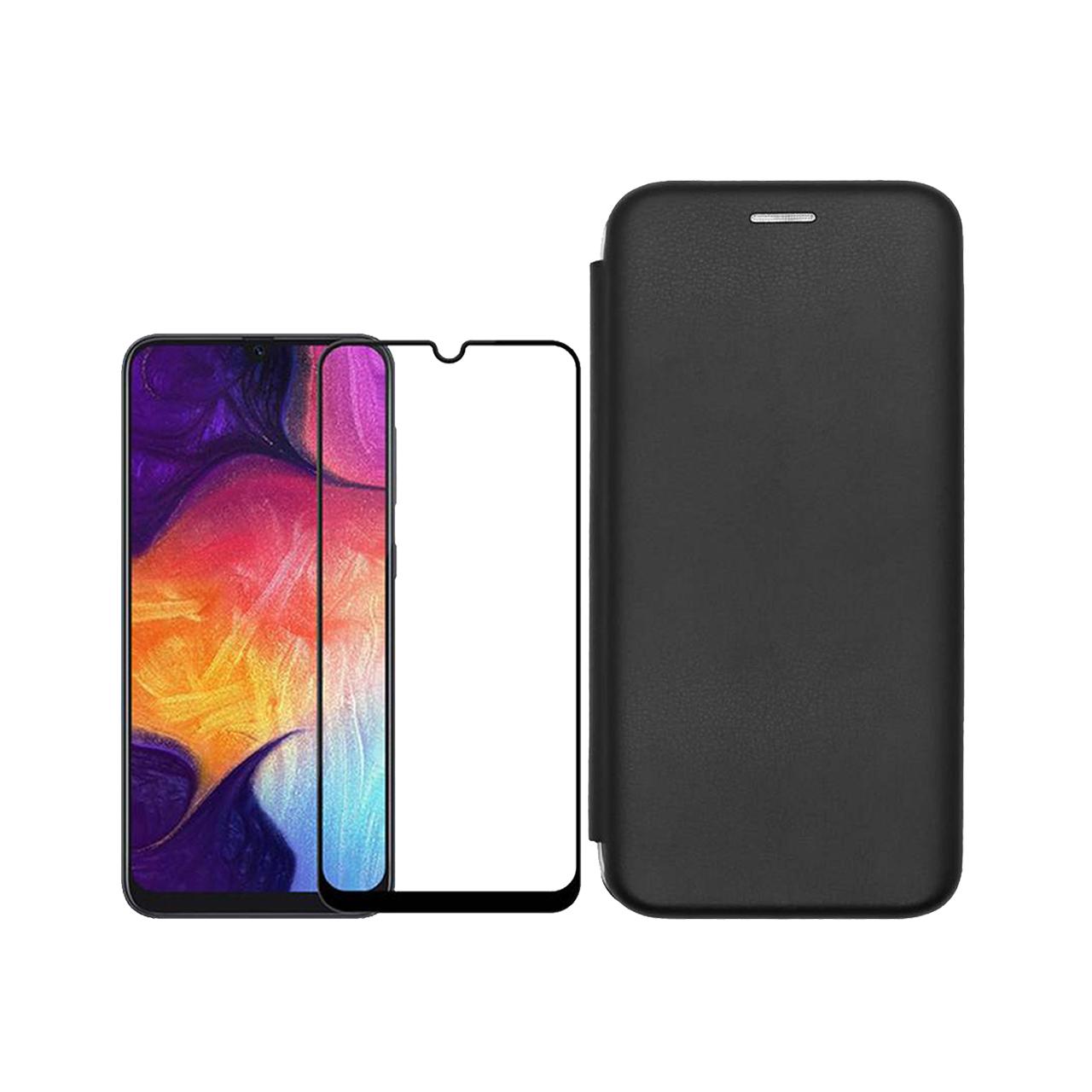 کیف کلاسوری مسیر مدل MMGNT-MGF-1 مناسب برای گوشی موبایل سامسونگ Galaxy A20 به همراه محافظ صفحه نمایش