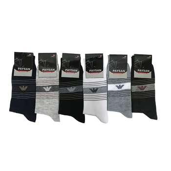 جوراب مردانه پایسان کد LD-16 مجموعه 6 عددی