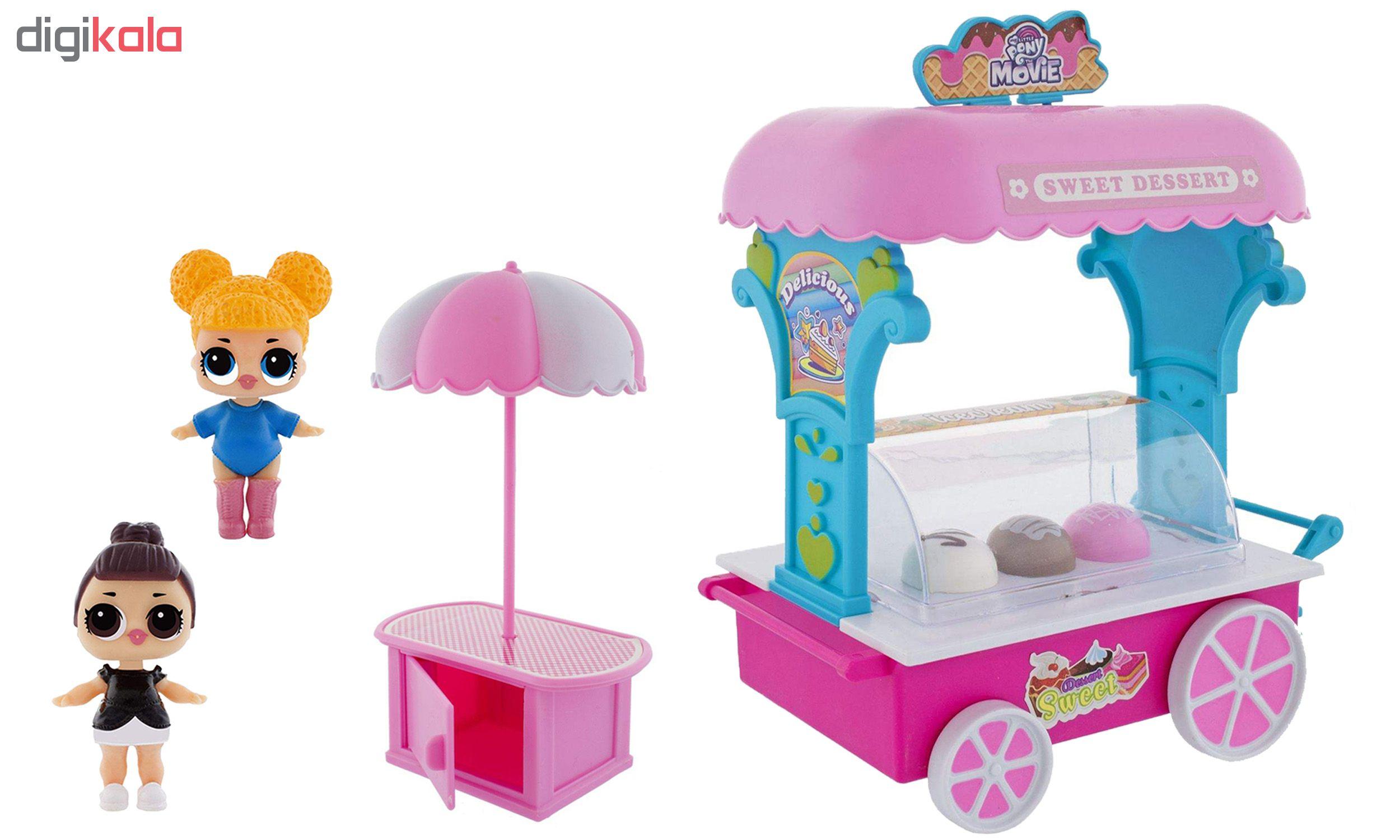 اسباب بازی طرح بستنی فروشی کد 121