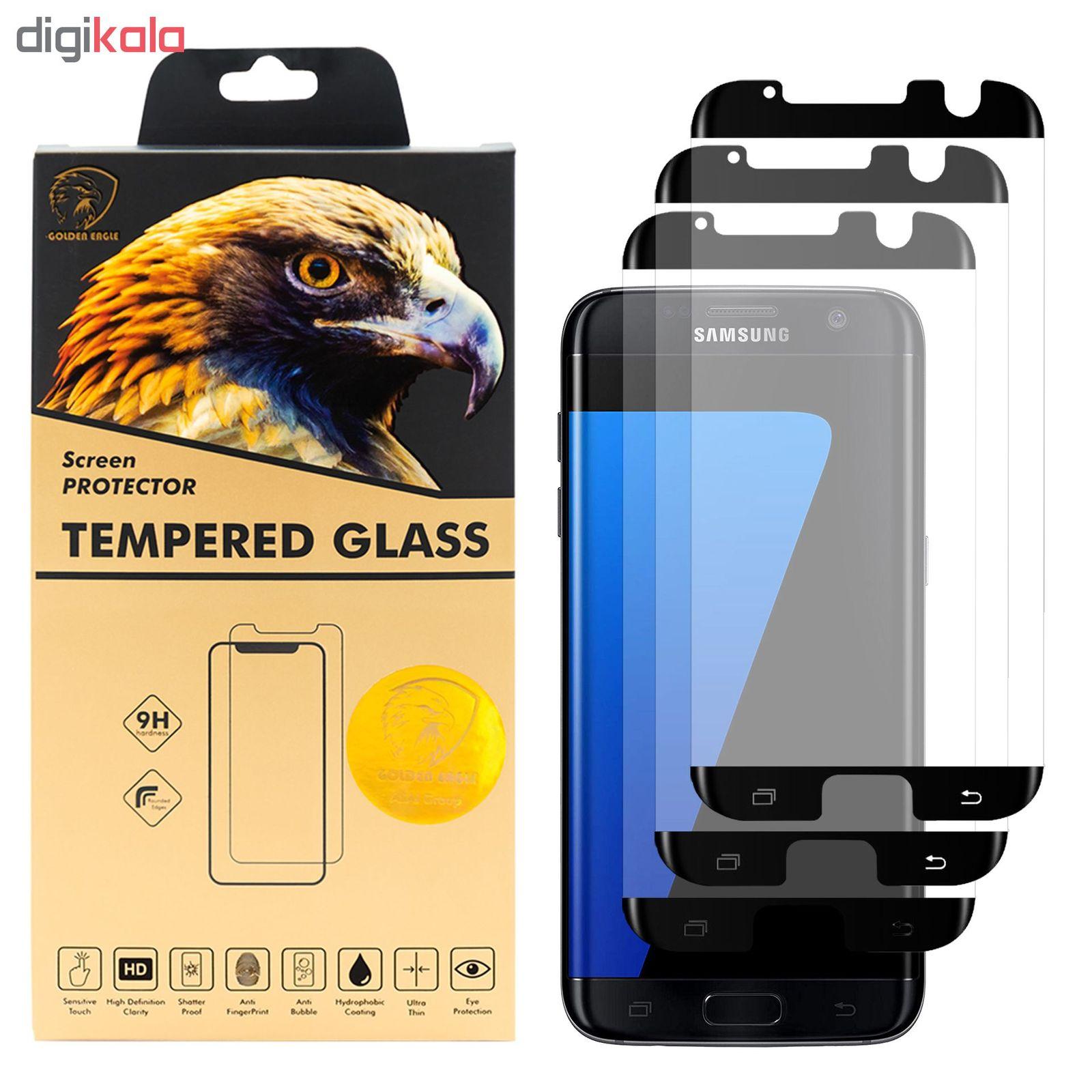 محافظ صفحه نمایش گلدن ایگل مدل HFC-X3 مناسب برای گوشی موبایل سامسونگ Galaxy S7 EDGE بسته سه عددی main 1 2