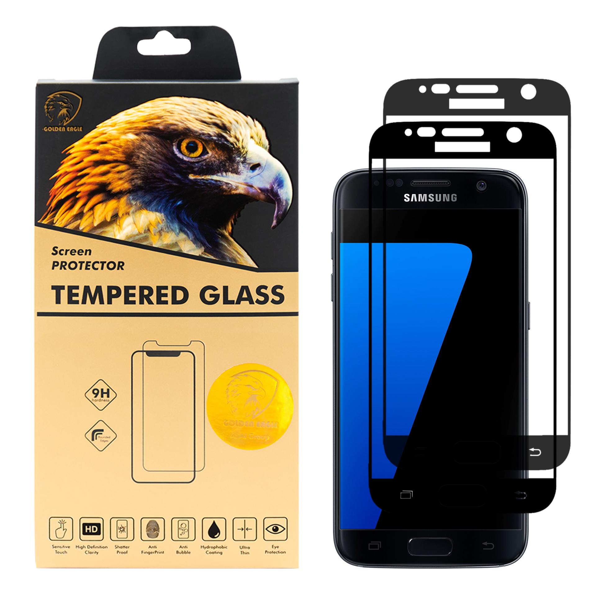 محافظ صفحه نمایش گلدن ایگل مدل DFC-X2 مناسب برای گوشی موبایل سامسونگ Galaxy S7 بسته دو عددی