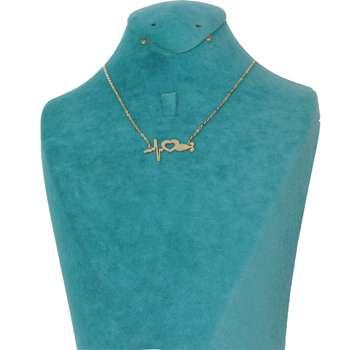 گردنبند طلا 18 عیار زنانه دارینا طرح ضربان قلب کد 06112.1.12