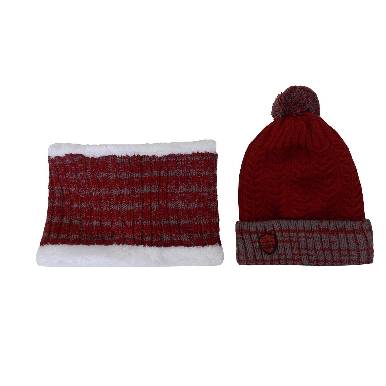 ست کلاه و شال گردن بافتنی دخترانه کد RI-1P-ZE-20640