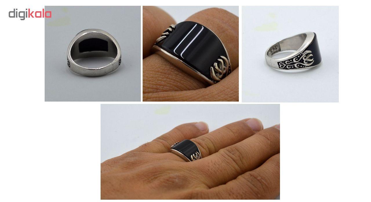 انگشتر نقره مردانه کد hp64
