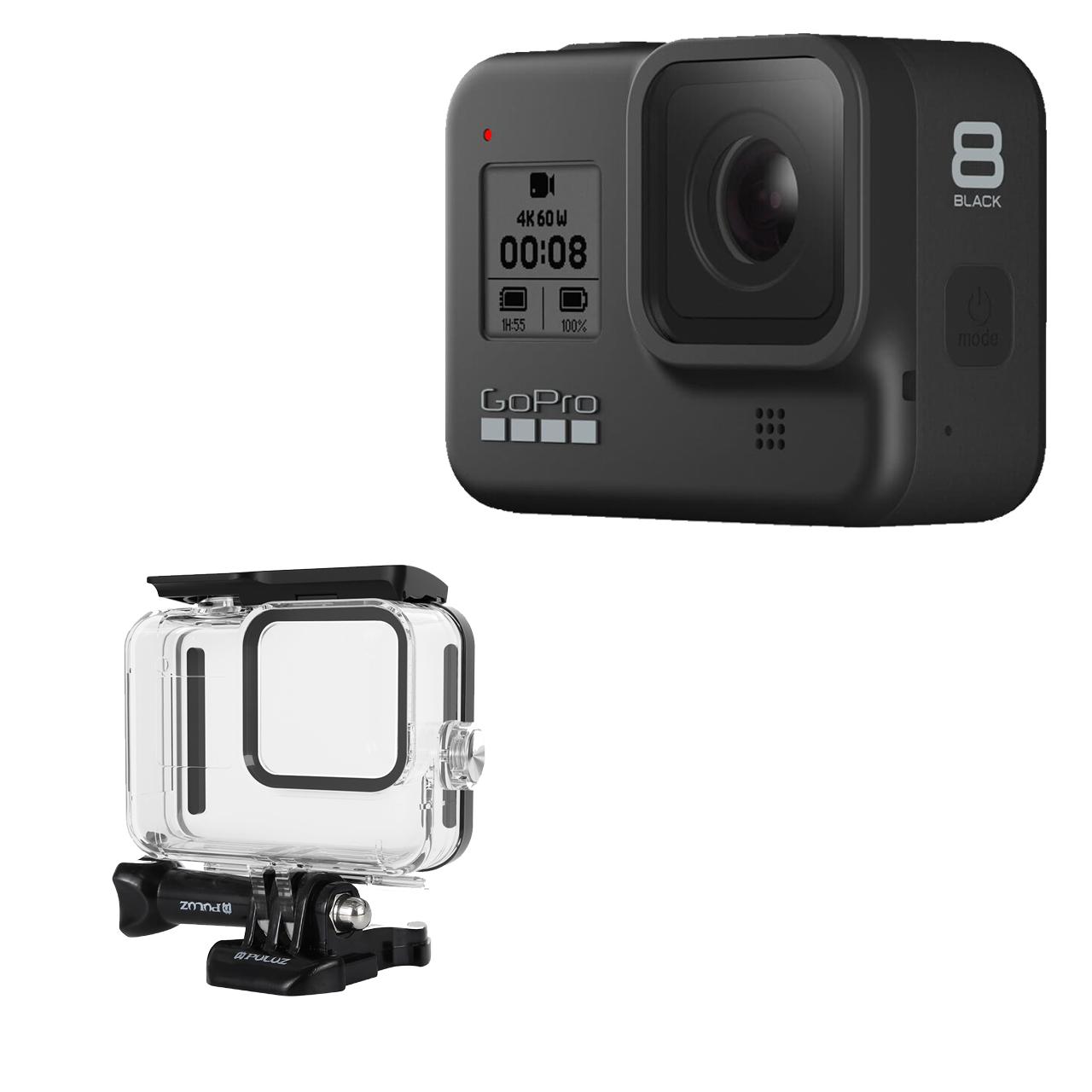 بررسی و {خرید با تخفیف}                                     دوربین فیلم برداری ورزشی گوپرو مدل HERO8 Black به همراه کاور                             اصل
