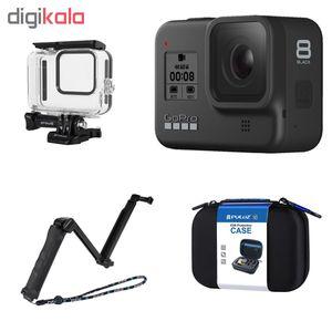 دوربین فیلم برداری ورزشی گوپرو مدل HERO8 Black به همراه لوازم جانبی پلوز