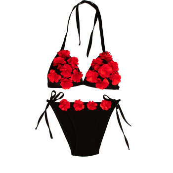 ست شورت و سوتین زنانه طرح بهار کد ۱۲۷ رنگ قرمز