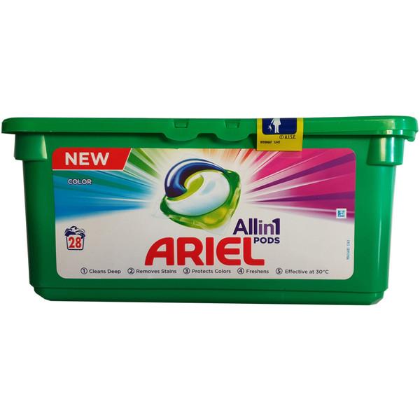 قرص ماشین لباس شویی آریل مدل All In 1 Color بسته 28 عددی