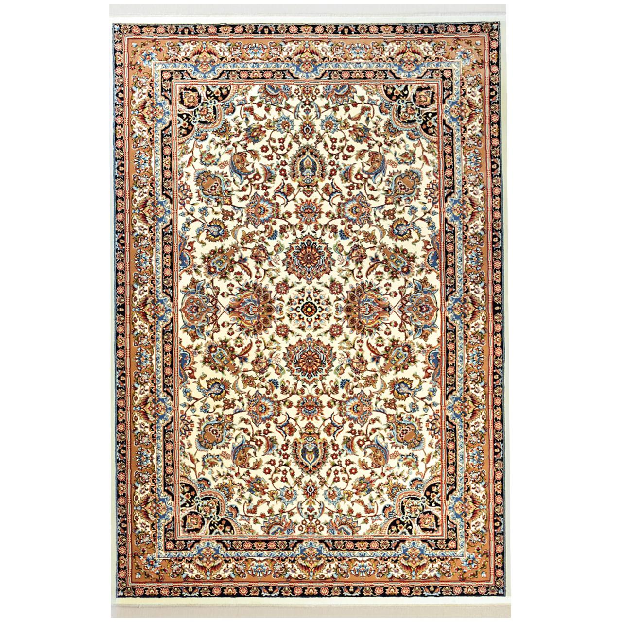 فرش ماشینی فرش سهند کد VF17.V5 زمینه کرم