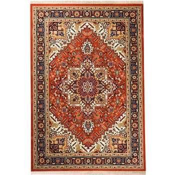 فرش ماشینی سهند کد V104.8U زمینه گلبهی