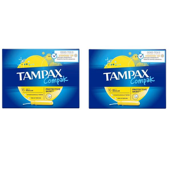 تامپون تامپکس مدل Regular Compak مجموعه 2 عددی