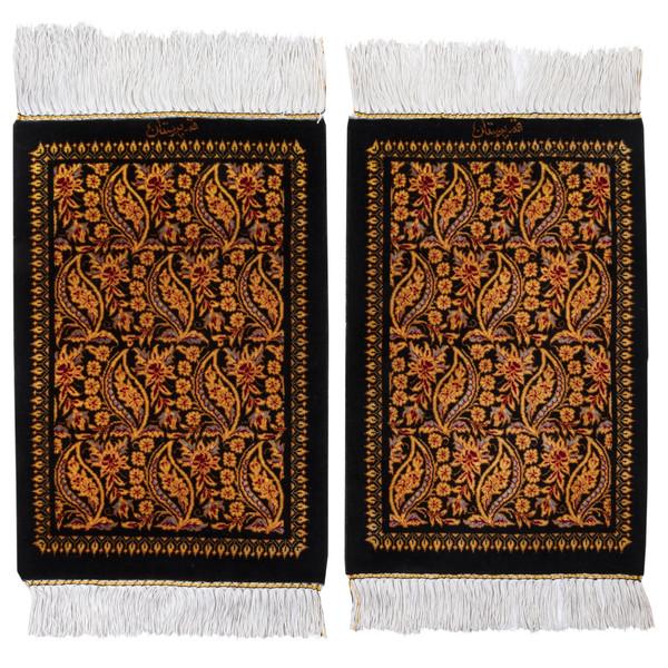 فرش دستباف رومیزی یک دهم متری سی پرشیا کد 703005 یک جفت