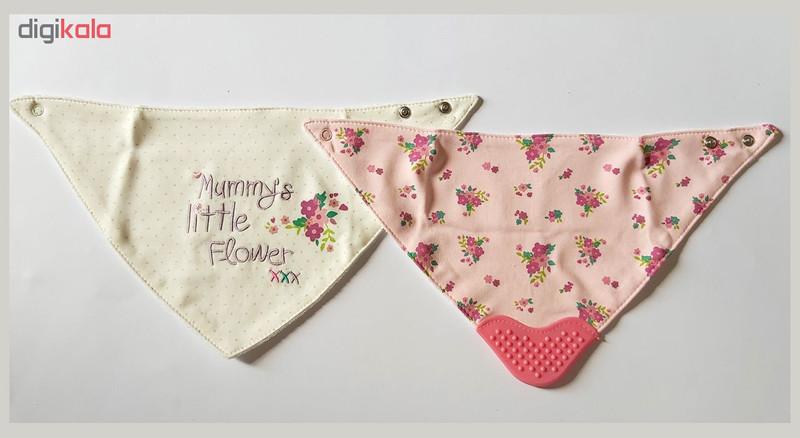 پیش بند نوزادی مدل flower مجموعه 2 عددی