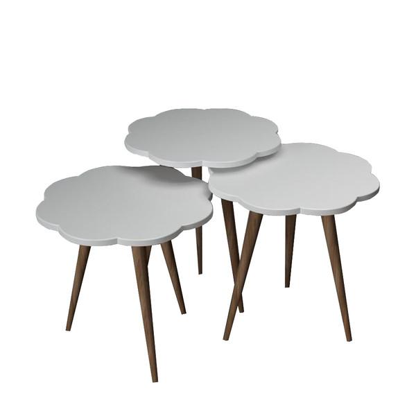 میز عسلی طرح گل کد 12 مجموعه 3 عددی