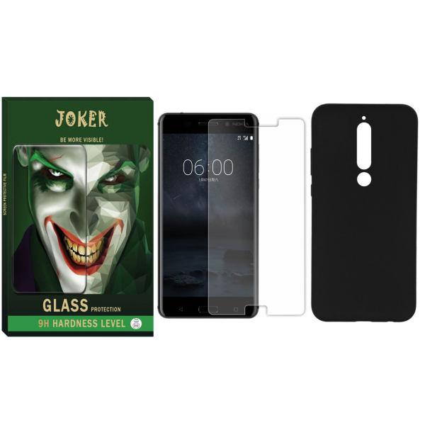 کاور مدل CJ-01 مناسب برای گوشی موبایل نوکیا 6.1 به همراه محافظ صفحه نمایش جوکر مدل SAD-01