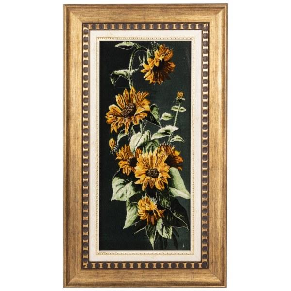 تابلو فرش دستباف سی پرشیا طرح گل های آفتابگردان کد 901788