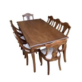 میز و صندلی ناهار خوری اسپرسان چوب کد Sm62
