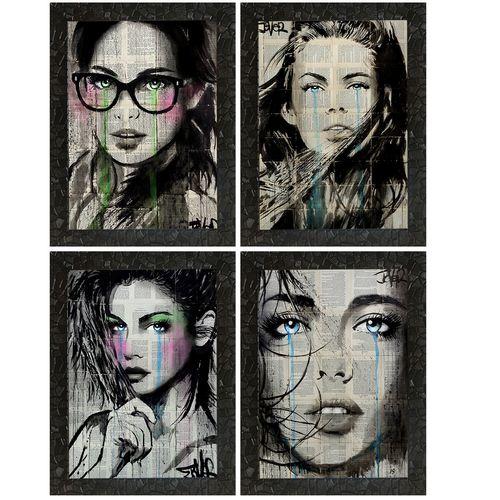 تابلو طرح آثار لویی پل جور مجموعه 4 عددی