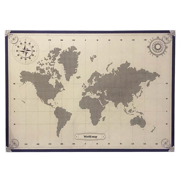 تابلو طرح نقشه جهان مدل s-15