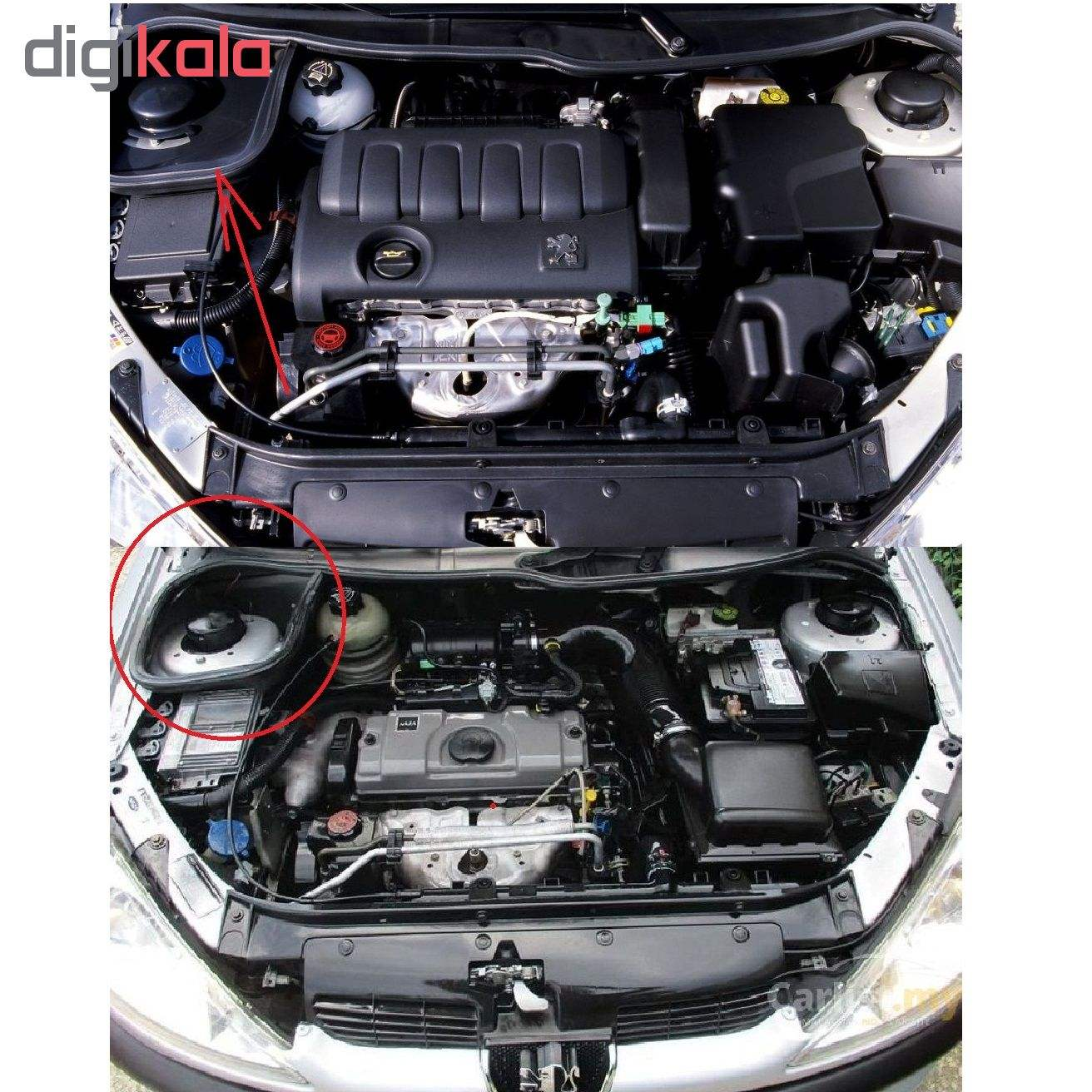 قاب روی کمک خودرو مدل S7 مناسب برای پژو 206 main 1 3