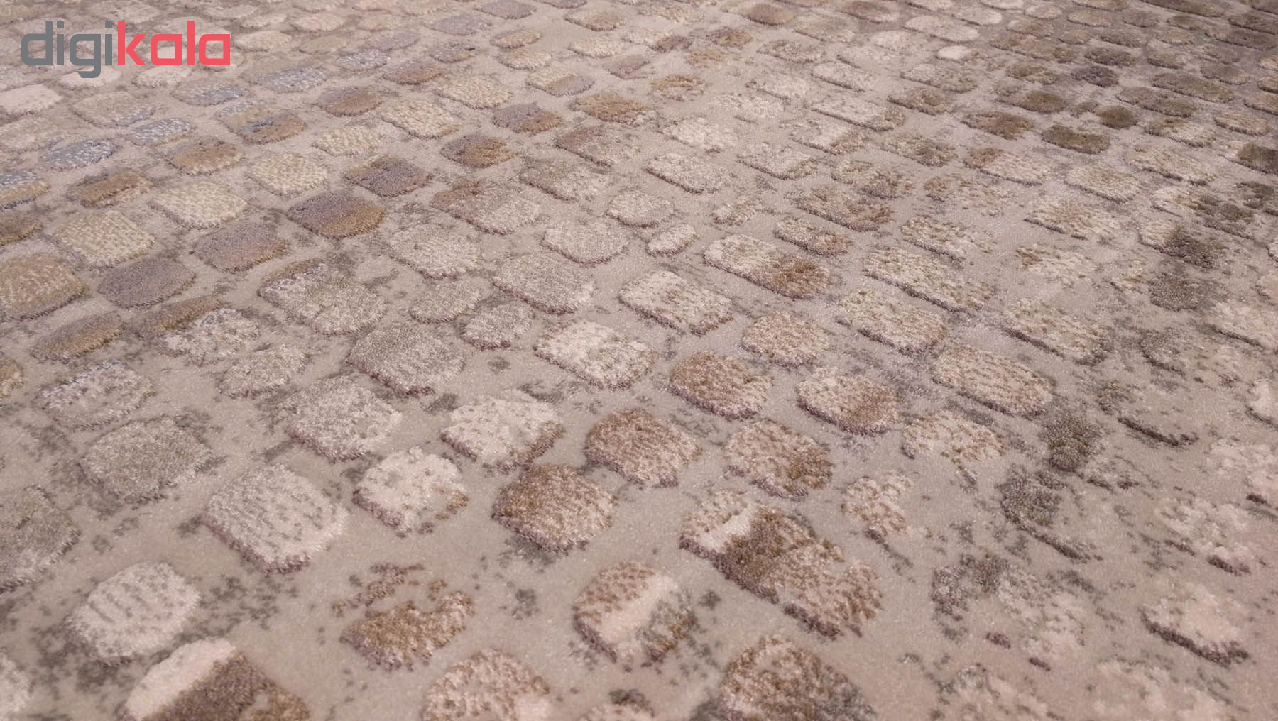 فرش ماشینی زمرد مشهد طرح پتینه کد TA121 زمینه طوسی