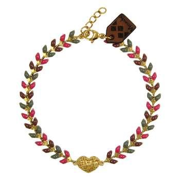 دستبند طلا 18 عیار زنانه مانچو کد bfg163