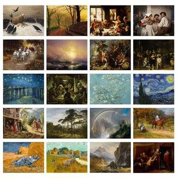 تابلو شاسی طرح آثار برتر نقاشان دنیا مجموعه 20 عددی