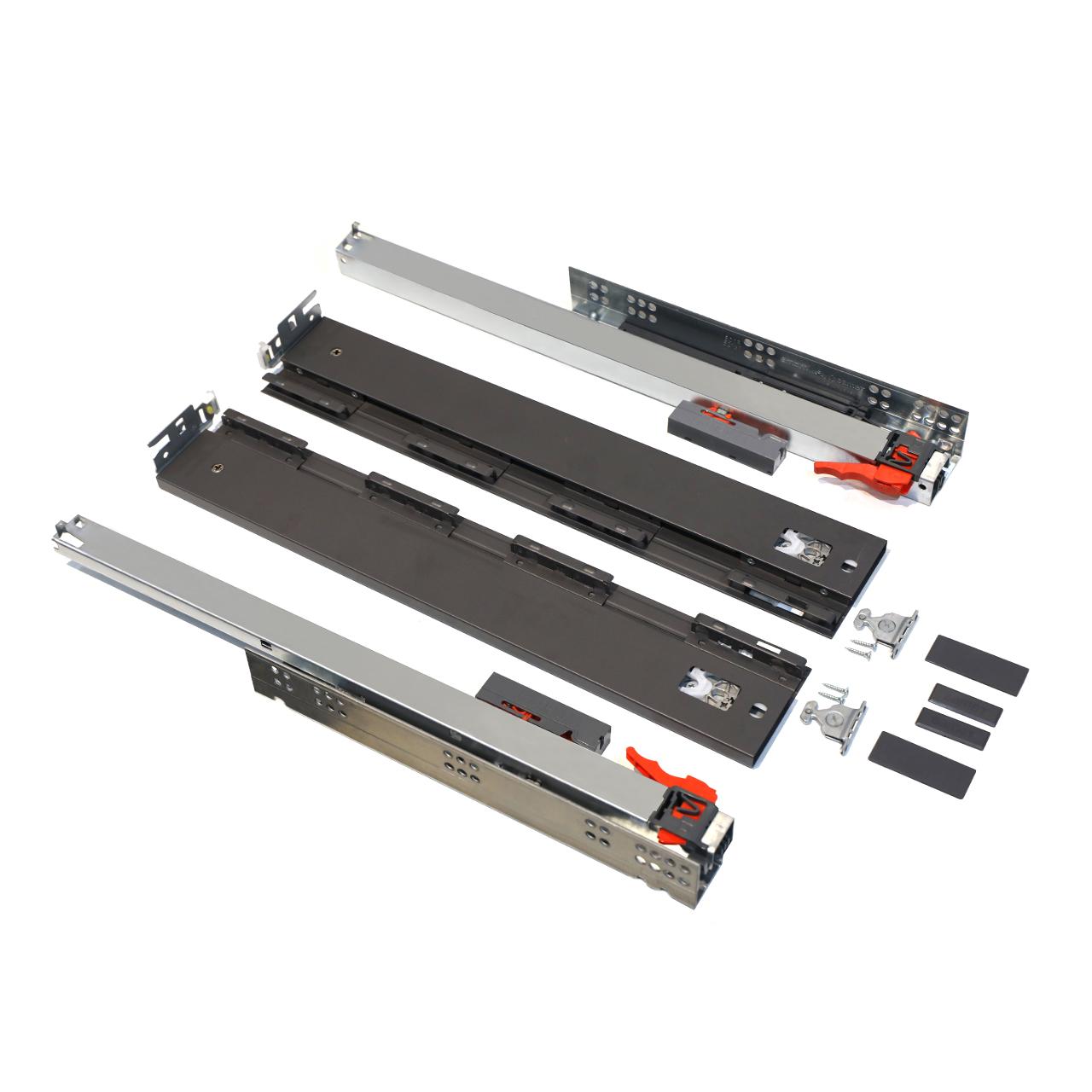 ریل کشو فشاری صامت مدل SmartFlow F40H58 سایز 40 سانتیمتری بسته 2 عددی