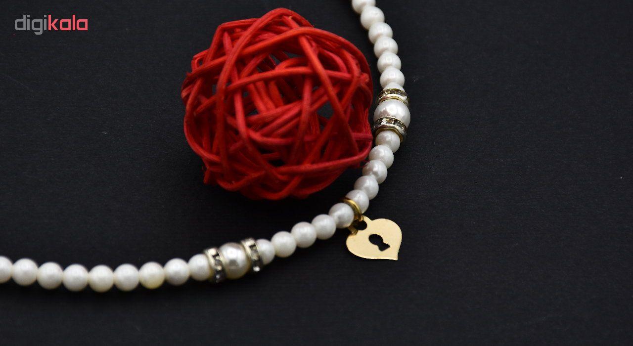 گردنبند طلا 18 عیار زنانه آمانژ طرح قلب کد 535D2982