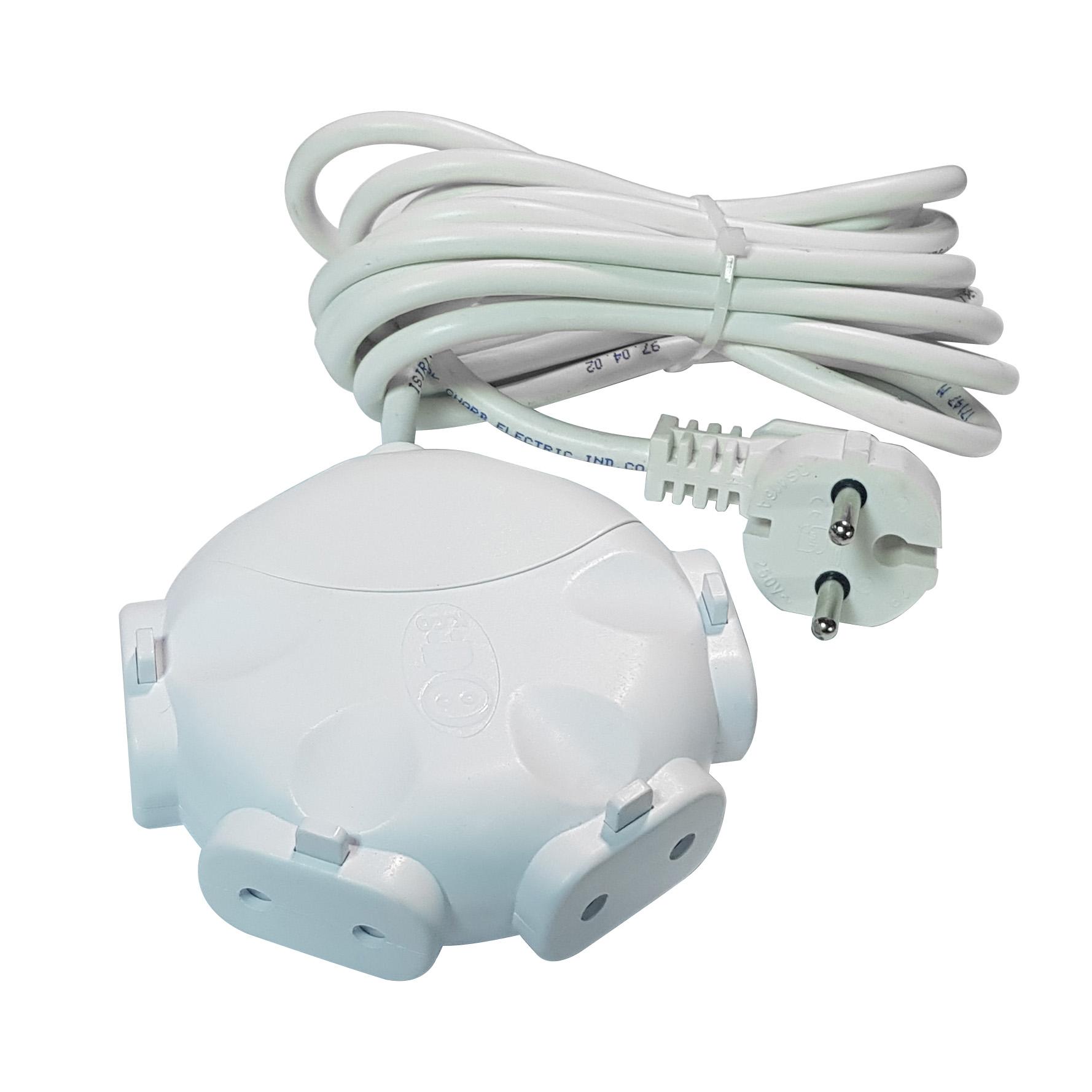 خرید اینترنتی چندراهی برق کوثرالکتریک مدل PE2-7 اورجینال