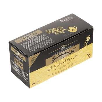 چای سیاه کیسه ای توینینگز  ارل گری بسته 25 عددی