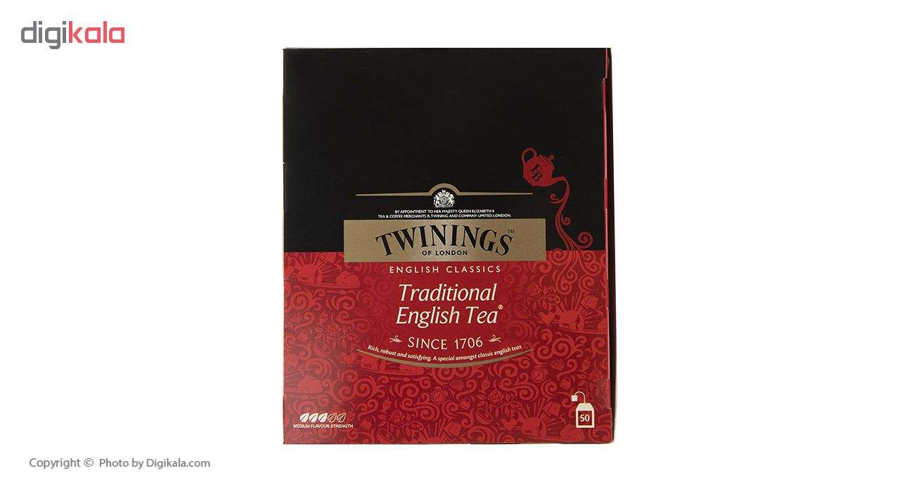 چای سیاه کیسه ای تویینینگز سنتی انگلیسی بسته 50 عددی main 1 1