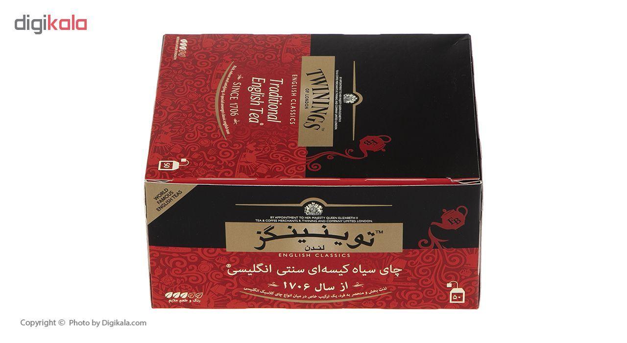 چای سیاه کیسه ای تویینینگز سنتی انگلیسی بسته 50 عددی main 1 3