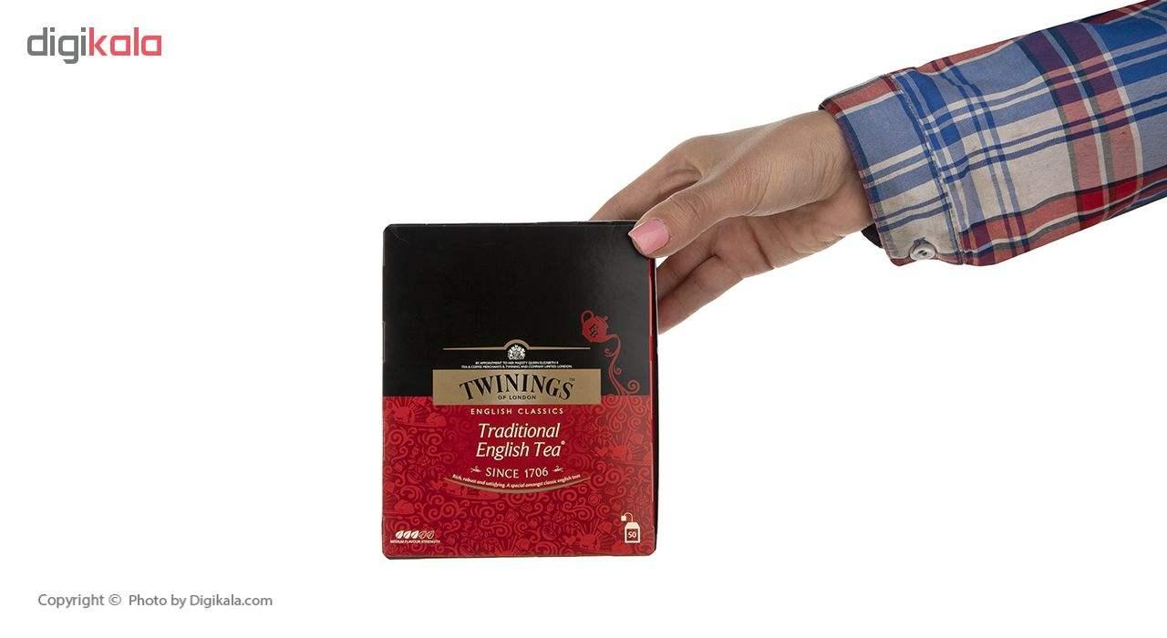 چای سیاه کیسه ای تویینینگز سنتی انگلیسی بسته 50 عددی main 1 5