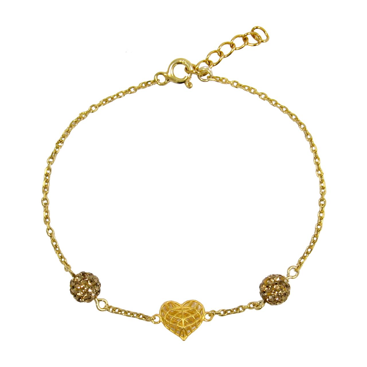 دستبند طلا 18 عیار زنانه مانچو کد bfgs003