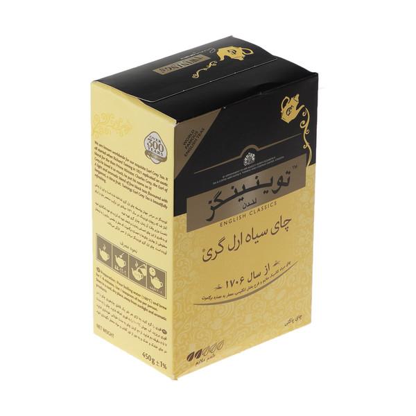 چای سیاه ارل گری توینینگز مقدار 450 گرم