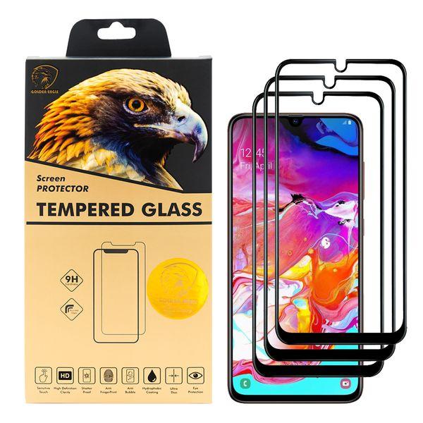 محافظ صفحه نمایش گلدن ایگل مدل DFC-X3 مناسب برای گوشی موبایل سامسونگ Galaxy A70 بسته سه عددی