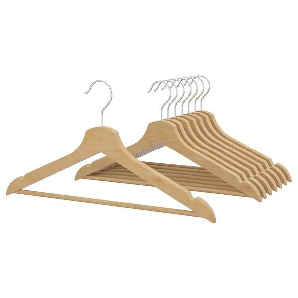چوب لباسی ایکیا مدل bumerang بسته 8 عددی