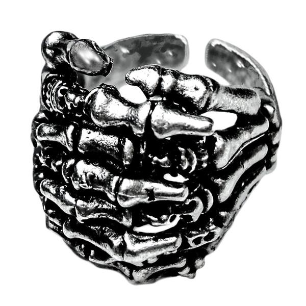انگشتر مردانه طرح دست اسکلت کد DSB1