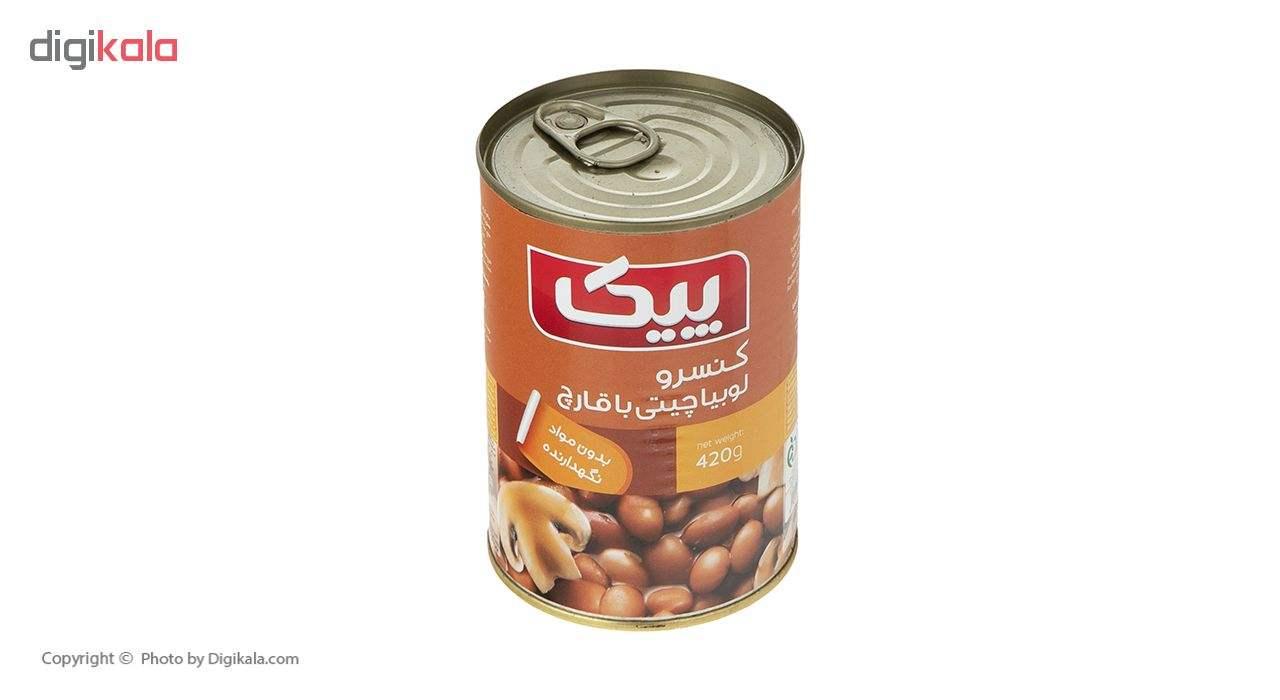 کنسرو لوبیا چیتی با قارچ پیک - 420 گرم main 1 2